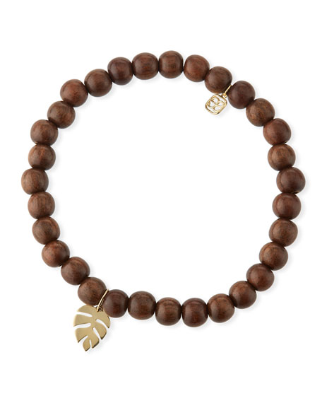 Mini Pure Monstera Leaf Wood Bracelet