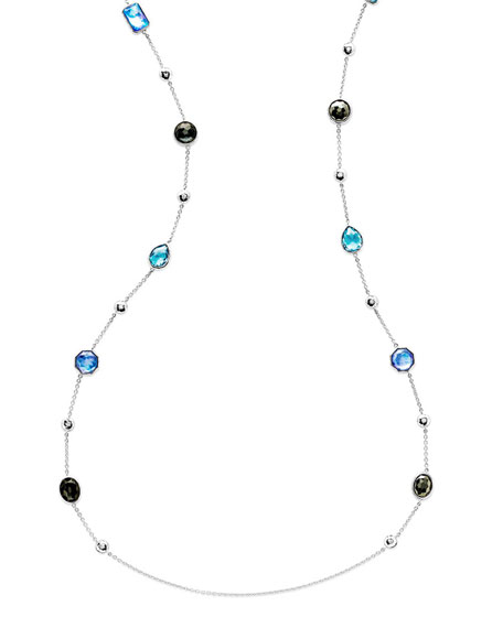 "925 Rock Candy® Medium-Station Necklace in Eclipse, 42""L"