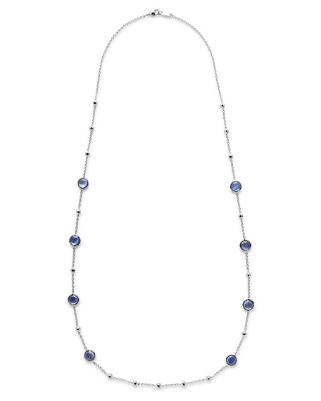 """Rock Candy Lolli Ball and Stone Station Necklace in Royal, 38"""""""