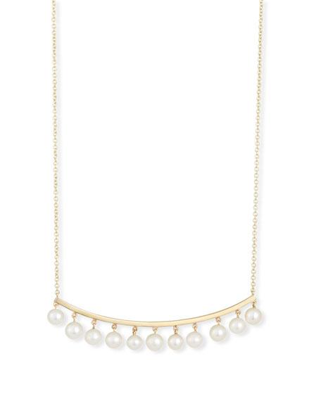 Sydney Evan Pearl Bar Necklace