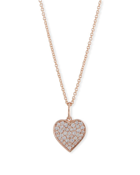 Sydney Evan Small Anniversary 14K Rose Gold Heart