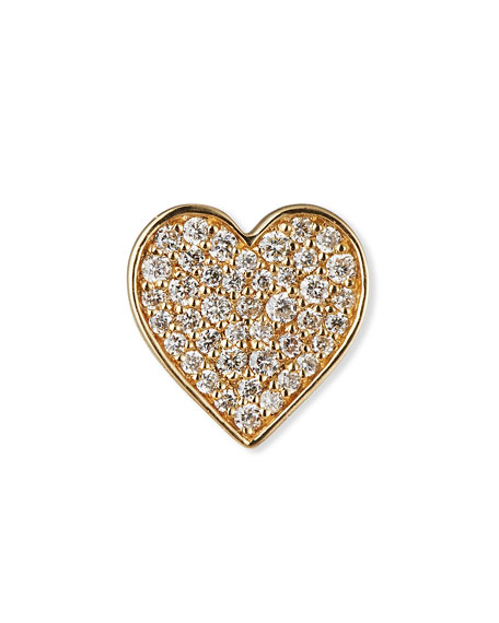 Anniversary Diamond Single Heart Stud Earring