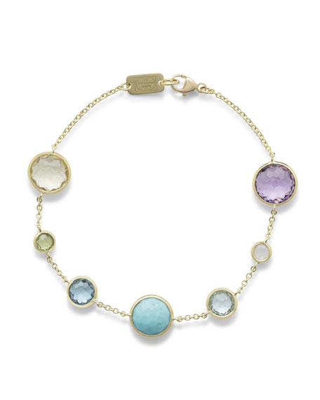 Lollipop Station Bracelet in 18K Gold