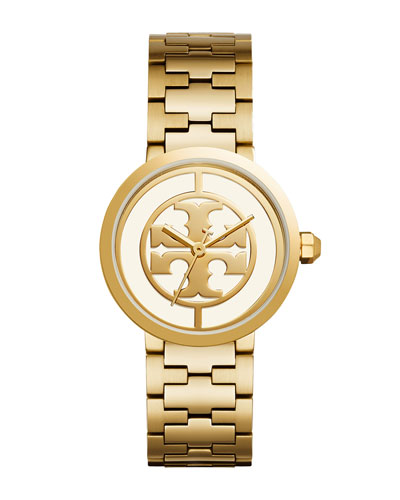 The Reva Bracelet Watch, Golden/White