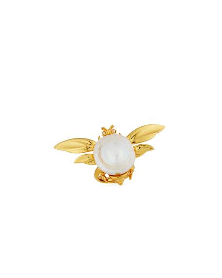 Oscar de la Renta Critters Fly Pearl Ring