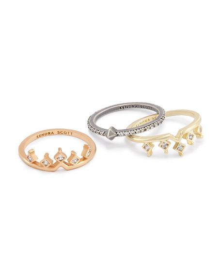 Lottie Crystal Stacking Rings