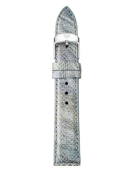 18mm Snakeskin Watch Strap in Fog Gray