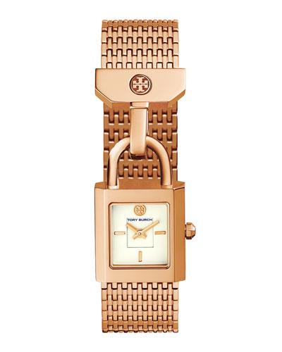Surrey Padlock Multilink Bracelet Watch, Rose-Golden
