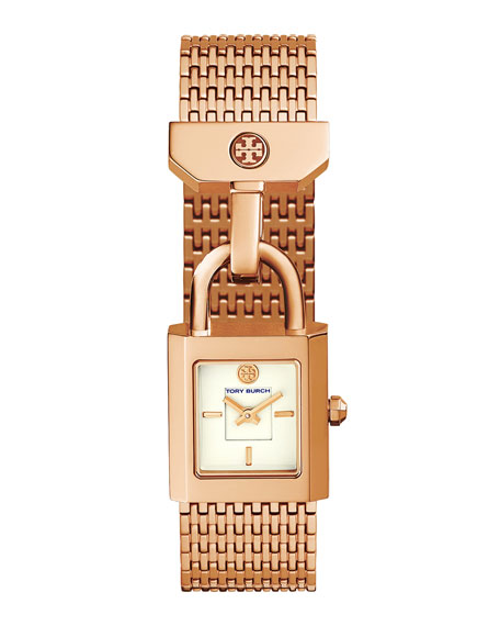 Surrey Padlock Multilink Bracelet Watch, Rose-Golden