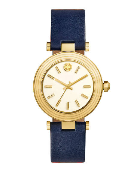 Classic T Stainless Steel Watch, Navy/Golden