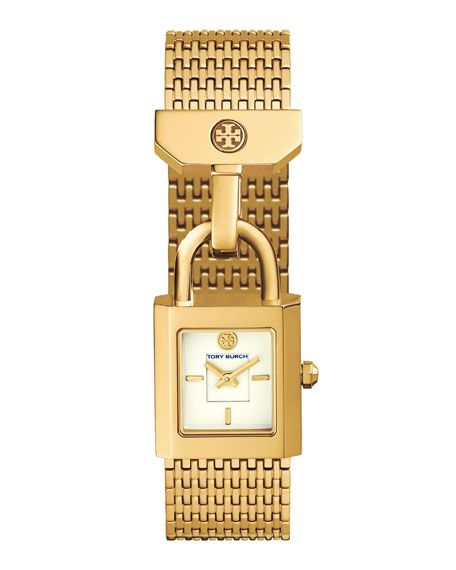 Surrey Padlock Multilink Bracelet Watch, Golden