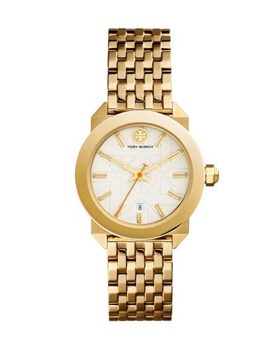Whitney Bracelet Strap Watch, Golden/White