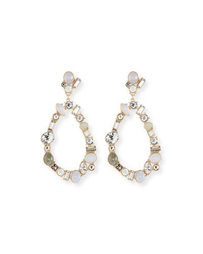 Crystal Open Teardrop Earrings