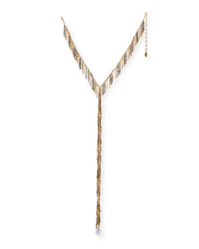 Chain Fringe Y-Drop Necklace