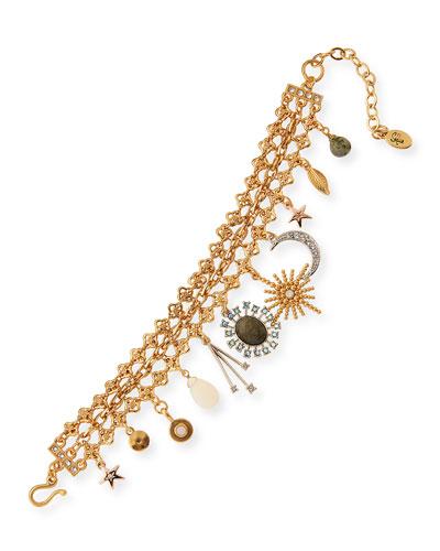 Celestial Crystal Charm Bracelet