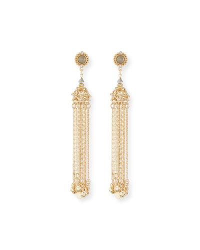Golden Chain Tassel Earrings