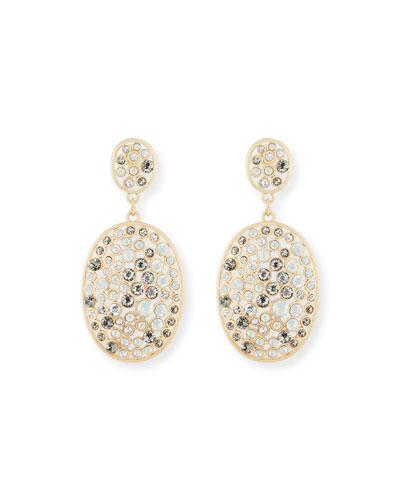 Multi-Bezel Crystal Drop Earrings