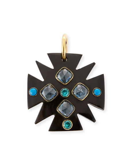 Ashley Pittman Serikali Dark Horn Pendant
