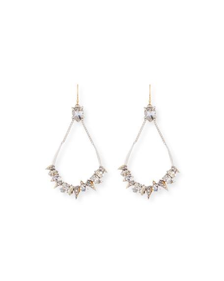Crystal-Encrusted Mosaic Futuristic Earrings