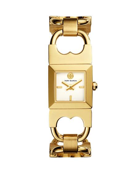 Double T Golden Link Bracelet Watch