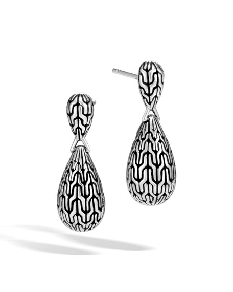 Classic Chain Teardrop Briolette Earrings