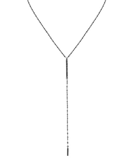 LANA Reckless 14K Black Gold Lariat Necklace with