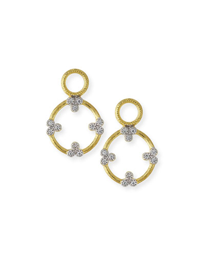 Provence Open Circle Trio Charms with Diamonds