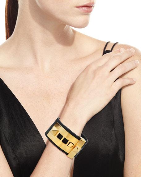 Rockstud Large Leather Cuff Bracelet