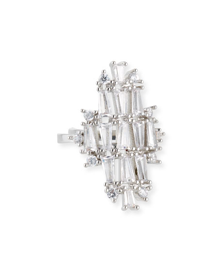 Fallon Monarch Deco Vertical Crystal Ring