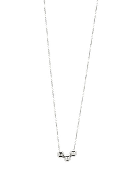 Newport Three-Bead Silvertone Adjustable Necklace