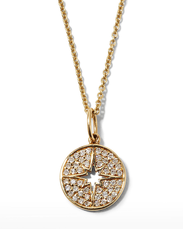 Sequin Medallion & Chalcedony Y-Drop Necklace sKBYanwu