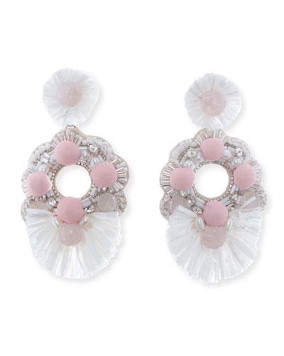 Genevieve Beaded Statement Earrings
