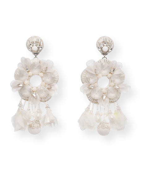Noemie Beaded Statement Clip-On Earrings