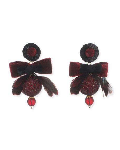 Ranjana Khan Penina Bow Statement Clip-On Earrings