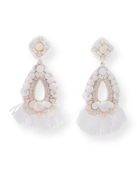 Simone Beaded Statement Clip On Earrings by Ranjana Khan