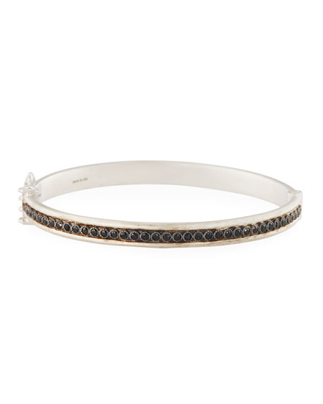 Armenta New World Single-Row Black Spinel Bracelet