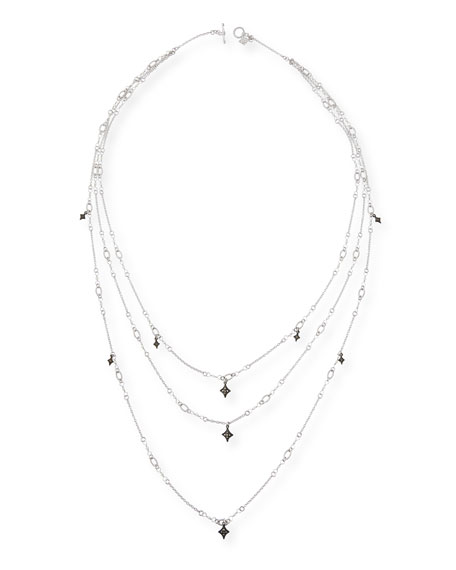 Armenta New World Triple-Strand Crivelli Necklace with Diamonds