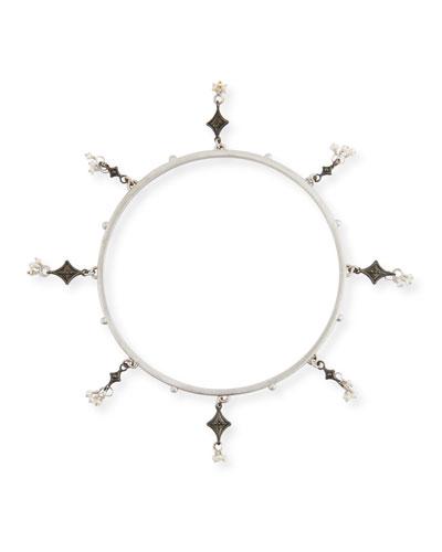 New World Seed Pearl Charm Bracelet