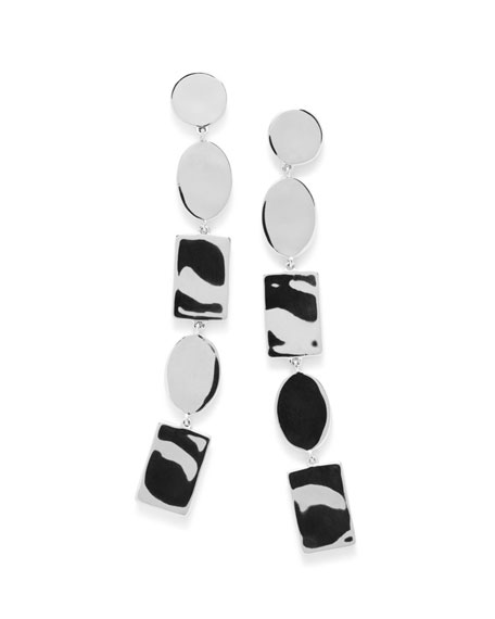 Senso™ Silver Oval Disc Drop Earrings