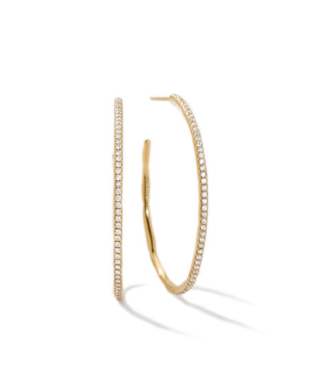 Stardust Large Hoop Earrings In 18K Gold With Diamonds from IPPOLITA