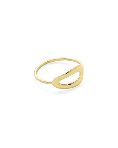 18K Gold Cherish Large One-Link Ring