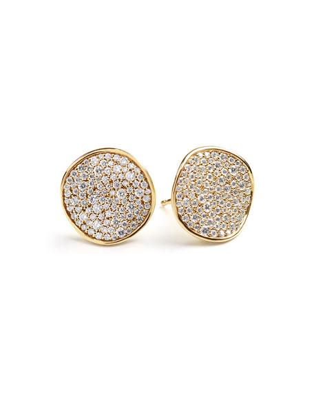 Stardust Pavé Diamond Wavy Disc Earrings
