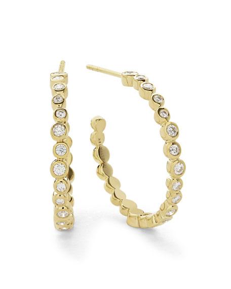 Stardust Medium Hoop Earrings in 18K Gold with Diamonds