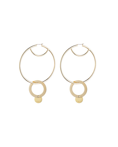 Eddie Borgo Nubia Hoop Earrings