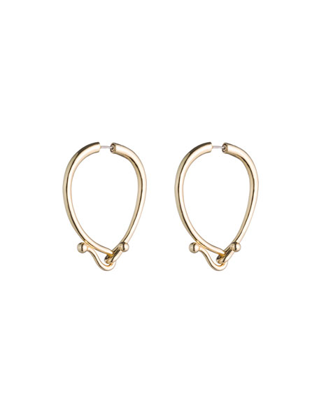 Eddie Borgo Thalia Hook Hoop Earrings