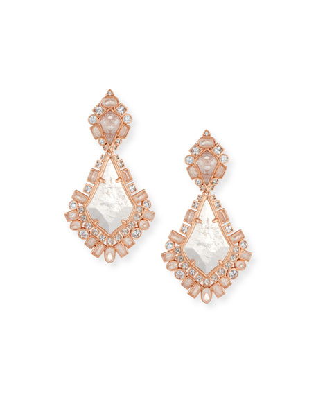 Kendra Scott Pernylle Statement Earrings in Rose-Tone Plate
