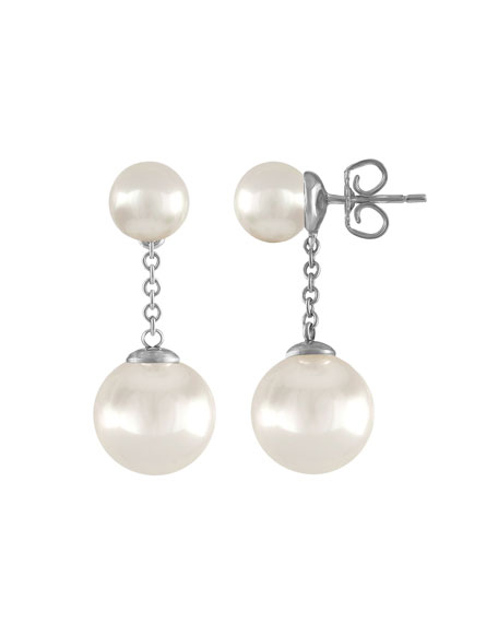 Majorica Simulated Pearl Chain Drop Earrings VvEYM