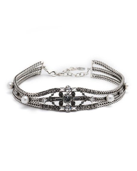 Dannijo Augere Crystal Choker Necklace