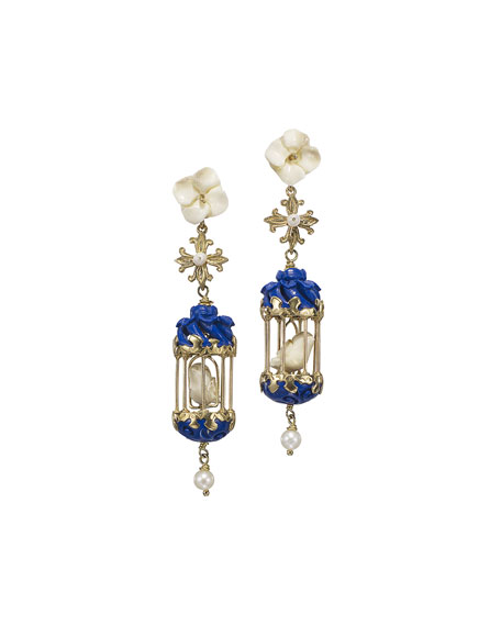 Of Rare Origin Aviary Classic Mini Drop Earrings