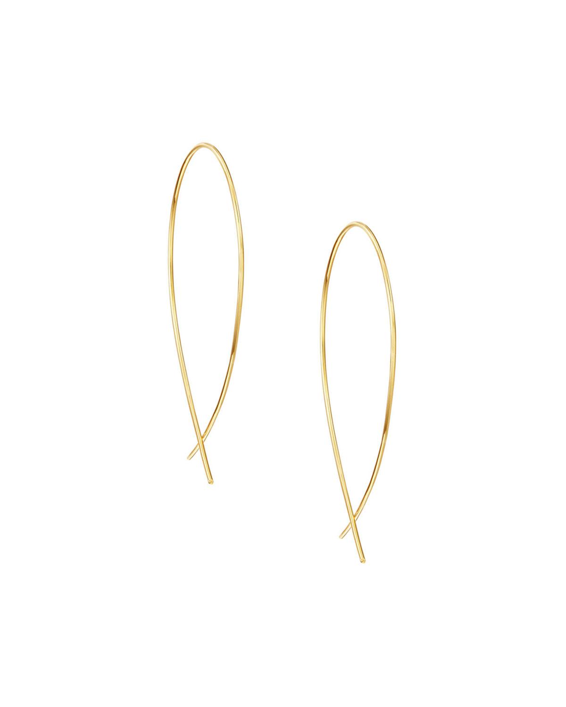 Lana Jewelry Electric Narrow Upside Down Sapphire Hoop Earrings in 14K Black Gold Wla4qazXX